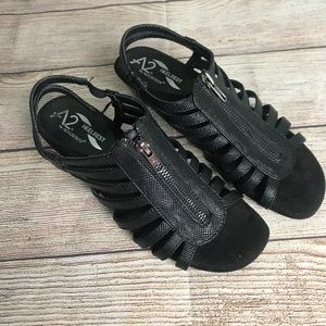 A2 Heelrest by Aerosoles Black Sparkle Wedge